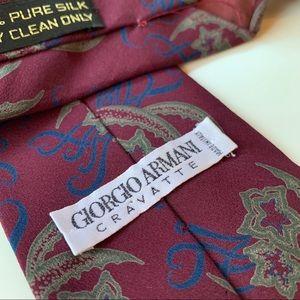 Giorgio Armani Cravatte Purple Pattern Mens Tie